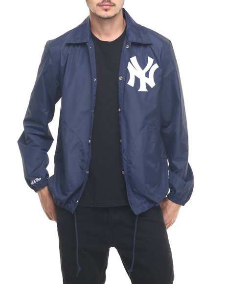 Mitchell & Ness - Men Navy New York Yankees Mlb Assistant Coach Jacket