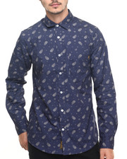 Buyers Picks - Cloud Paisley Pattern L/S Button-down