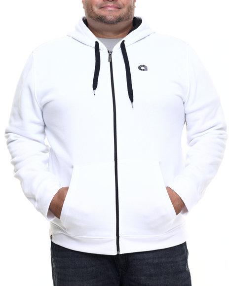 Akademiks Men Essential Full Zip Hoody (B&T) White 4X-Large