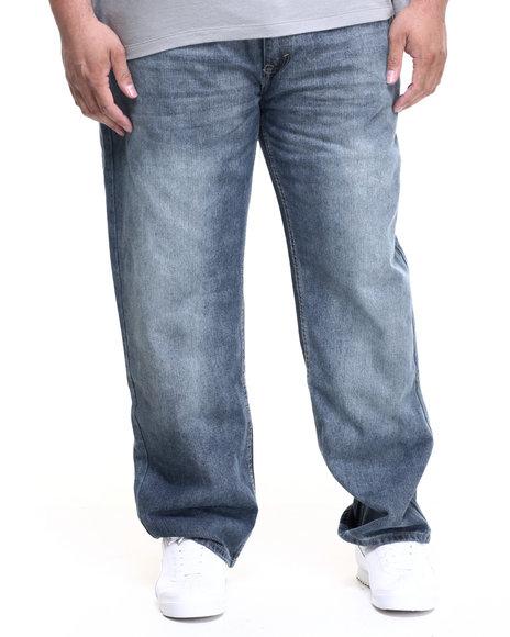 Akademiks - Men Light Wash Dean Raw Denim Jeans (B&T)