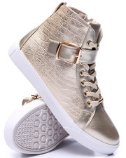 Fashion Lab - Cagney Faux Snake Embossed Sneaker
