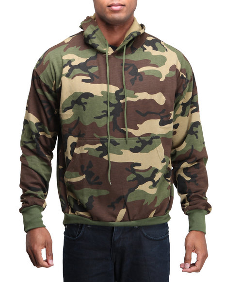Rothco Men Rothco Camo Pullover Hooded Sweatshirt Woodland Camo Small