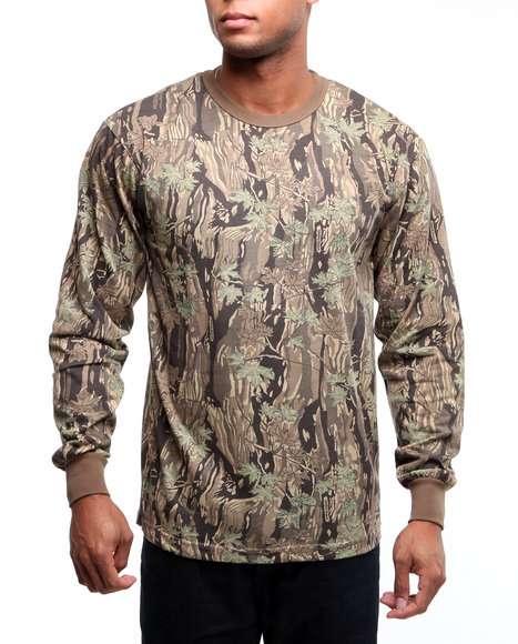 Rothco - Men Smokey Branch Camo Rothco Long Sleeve Camo T-Shirt