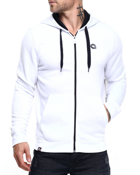 Akademiks - Men White Essential Full Zip Hoody