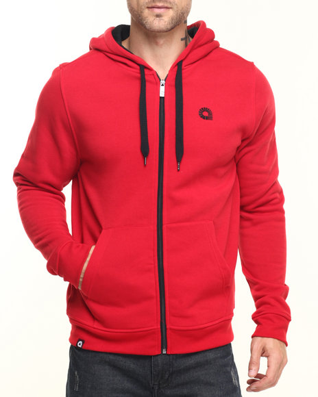 Akademiks - Men Red Essential Full Zip Hoody