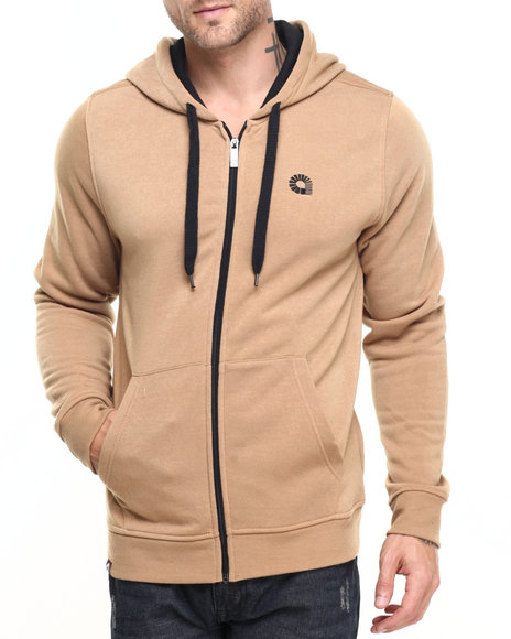 Akademiks - Men Wheat Essential Full Zip Hoody