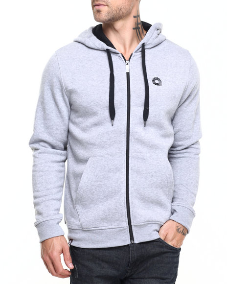 Akademiks - Men Grey Essential Full Zip Hoody