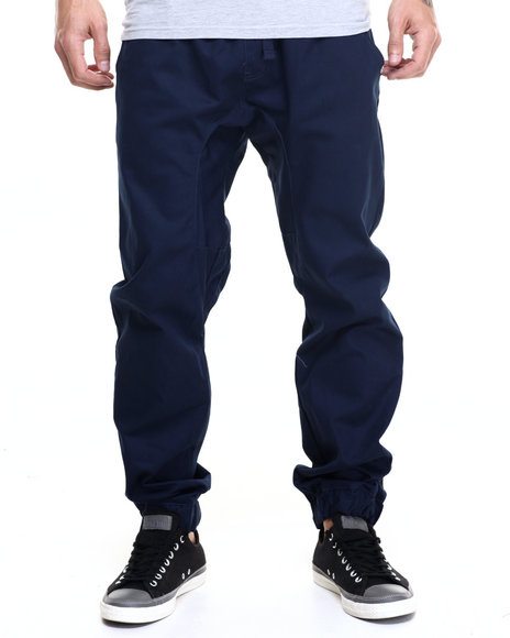 Akademiks - Men Navy Nollie Twill Jogger Pants
