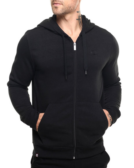 Akademiks - Men Black Essential Full Zip Hoody