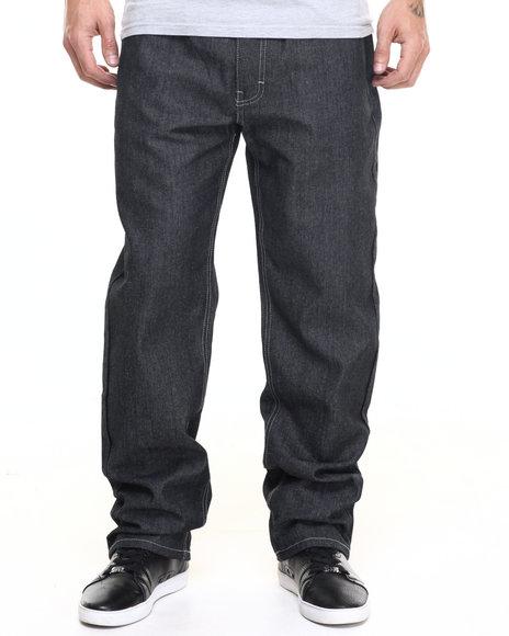 Akademiks Men Monroe Raw Denim Jeans Dark Indigo 36x32