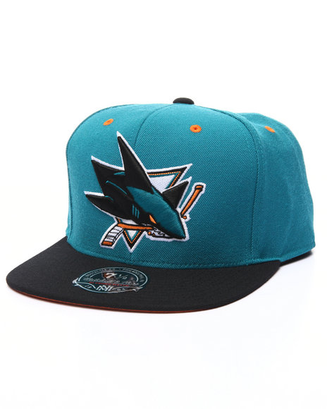 Mitchell & Ness - Men Teal San Jose Sharks 2 Tone Fitted Cap