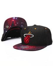 Men - Miami Heat Galaxy Print Visor Snapback Cap