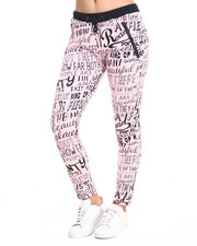 Women - Graffiti Printed French Terry Jogger
