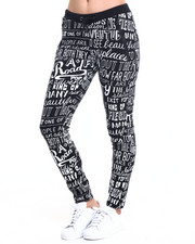 SOHO BABE - Graffiti Printed French Terry Jogger