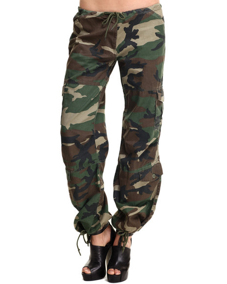 Rothco Women Rothco Womens Camo Vintage Paratrooper Fatigue Pants Camo Small