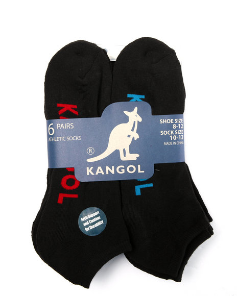 Kangol Men Arch Support Sold 6 Pk No Show Socks Black 10-13 - $8.99