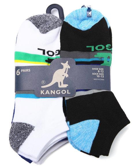 Kangol - Men Multi Kangol Stripe 6 Pk Athletic No Show Socks