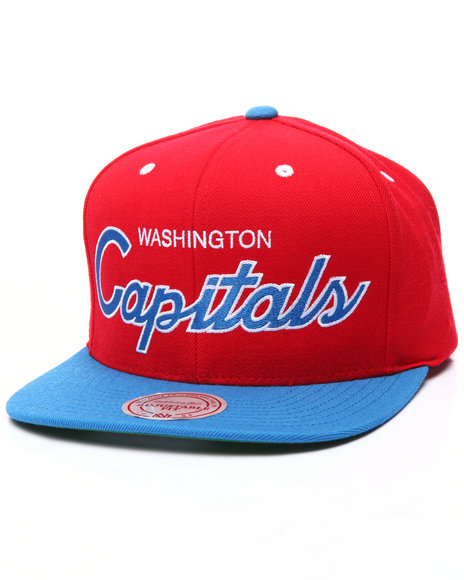 Mitchell & Ness Men Washington Capitals Nhl Script Snapback Cap Multi