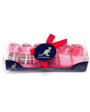 Girls - Giftable 3-Pk Infant Booties (0-12 mths)