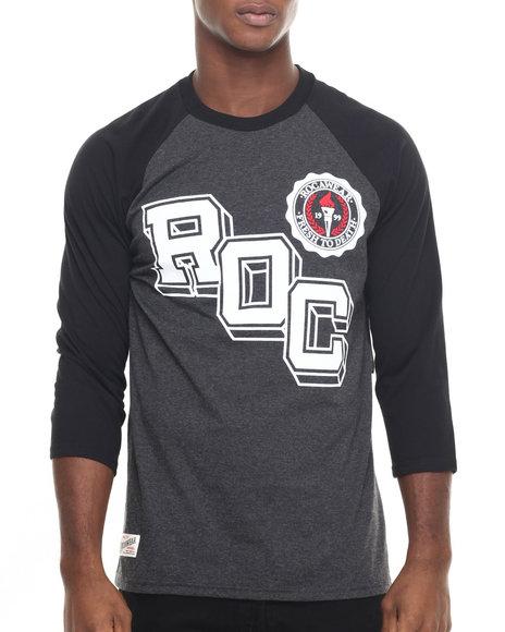 Rocawear Men Baseball Raglan Tee Grey X-Large