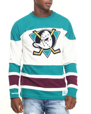 Mitchell & Ness - Anaheim Ducks NHL Changing On The Fly Longsleeve (Traditional Fit)