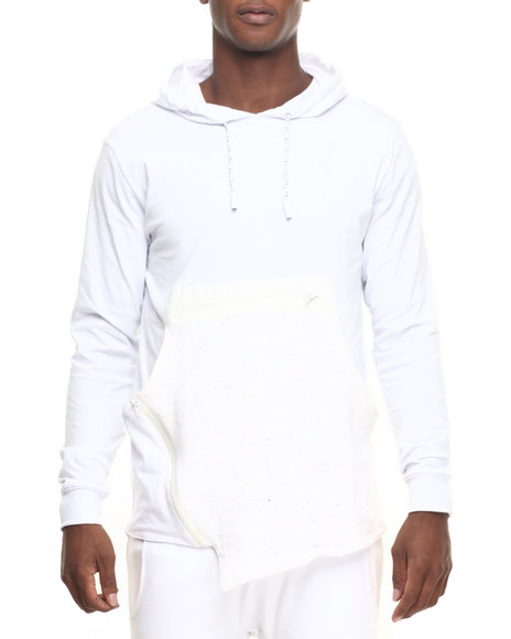 Hudson Nyc - Men White H D S N Speckled Pullover Hoodie