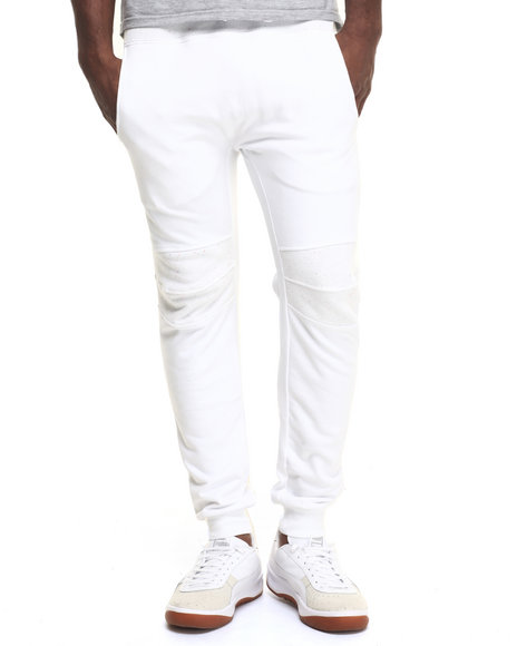 Hudson Nyc - Men White H D S N Speckled Drawstring Joggers
