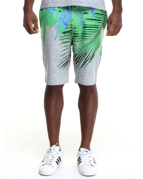 Hudson Nyc - Men Green,Grey Way Up Drawstring Shorts
