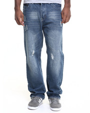 Jeans & Pants - Washed Flap - Pocket Denim Jeans