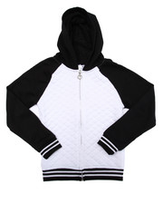 Deals-Girls - QUILTED FRENCH TERRY HOODY (7-16)
