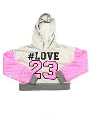 La Galleria - QUILTED LOVE CROP HOODIE (7-16)