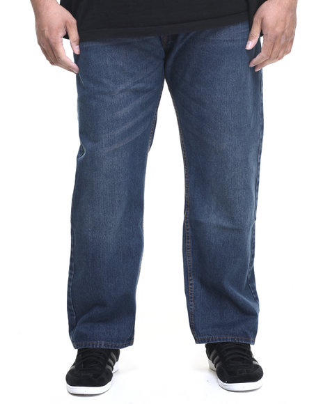 Rocawear Men Volume R-Script Jeans (B&T) Dark Indigo 52x32