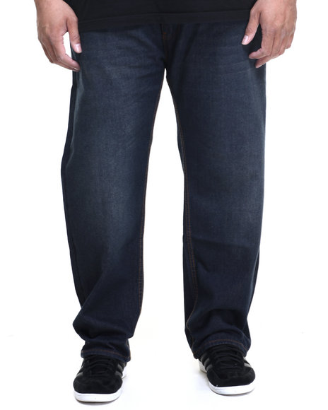 Rocawear Men Volume R-Script Jeans (B&T) Dark Wash 50x32
