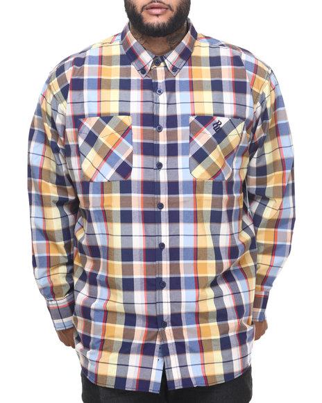 Rocawear - Men Navy Parker L/S Button-Down (B&T)