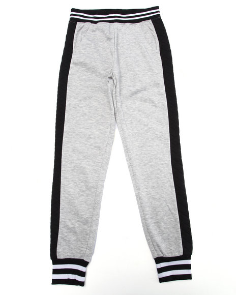 La Galleria - Girls Grey French Terry Jogger (7-16)