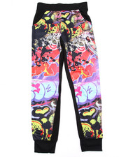 Bottoms - GRAFFITI SUBLIMATION JOGGERS (7-16)