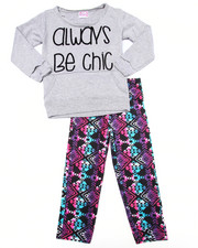 Girls - 2 PC - ALWAYS BE CHIC SWEATSHIRT & LEGGINGS (4-6X)