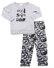 La Galleria - 2 PC - COOL SHIRT DAY SWEATSHIRT & LEGGINGS (4-6X)