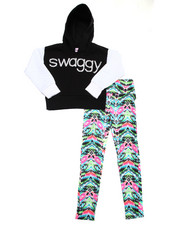 La Galleria - 2 PC SWAGGYCROPPED HOODIE & LEGGINGS SET (7-16)