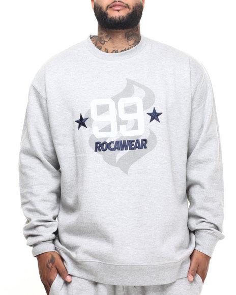 Rocawear Men Cloud 99 Crew Sweatshirt BT Grey 5XLB