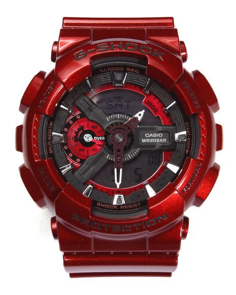 G-Shock By Casio Men Metallic Color Watch Red