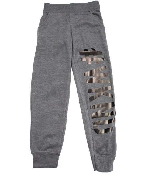 La Galleria - Girls Grey #Weekend Joggers (7-16)
