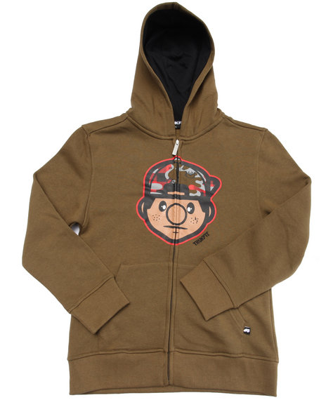 Trukfit - Boys Olive Lil' Tommy Hoody (8-20)