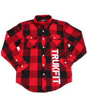 Long-Sleeve - BUFFALO PLAID WOVEN (8-20)