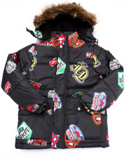 TRUKFIT - ALL OVER PRINT TRUKFIT SNORKEL W/ FAUX FUR TRIM HOOD (8-20)