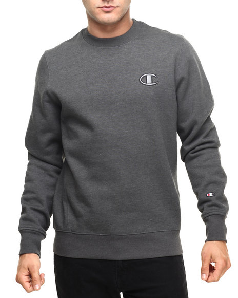Champion - Men Charcoal Champion Super Fleece 2.0 Crewneck Sweatshirt