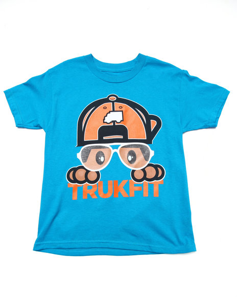 Trukfit - Boys Teal Lil' Hipster Tommy Tee (8-20)