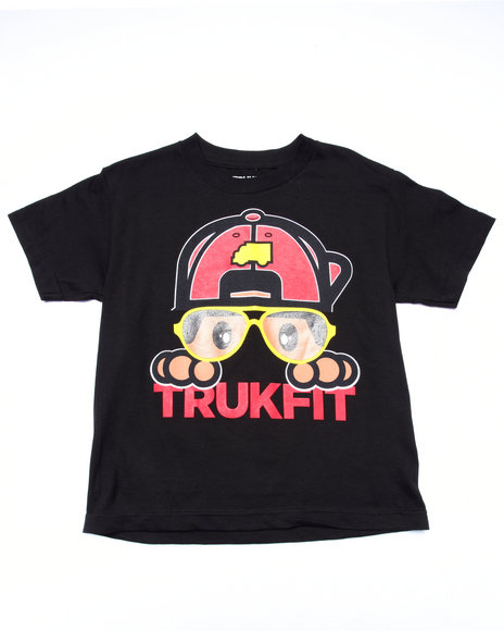 Trukfit - Boys Black Lil' Hipster Tommy Tee (8-20)