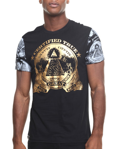 Buyers Picks - Men Black Coin Foil Tee