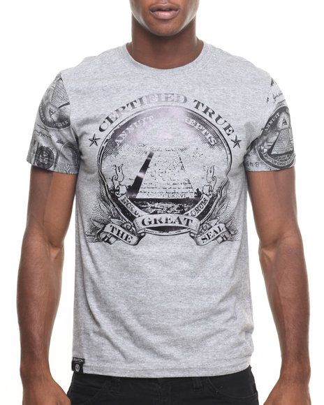 Buyers Picks - Men Grey Coin Foil Tee